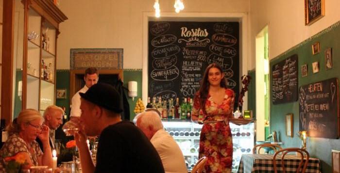 Rositas Bistro: De fleste gster bliver 4-5 timer